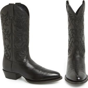 Ariat ✪ Heritage Leather Cowboy Boot ✪ Black